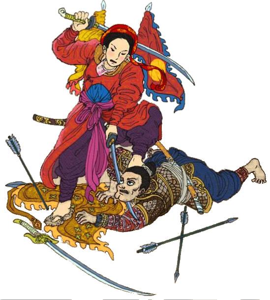 Femme Général du Đại Việt (ancien nom du Việt Nam)